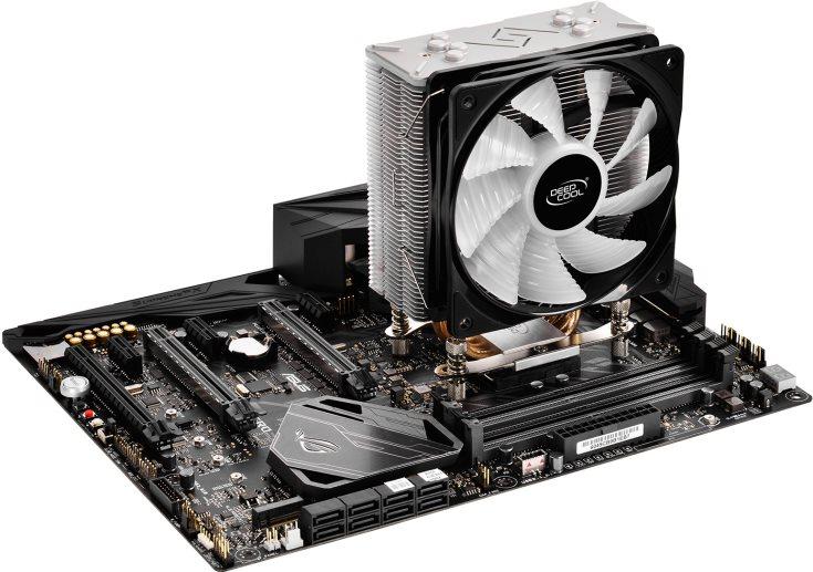 Процессорный охладитель Deepcool Gammaxx GT подходит для процессоров с TDP до 150 Вт