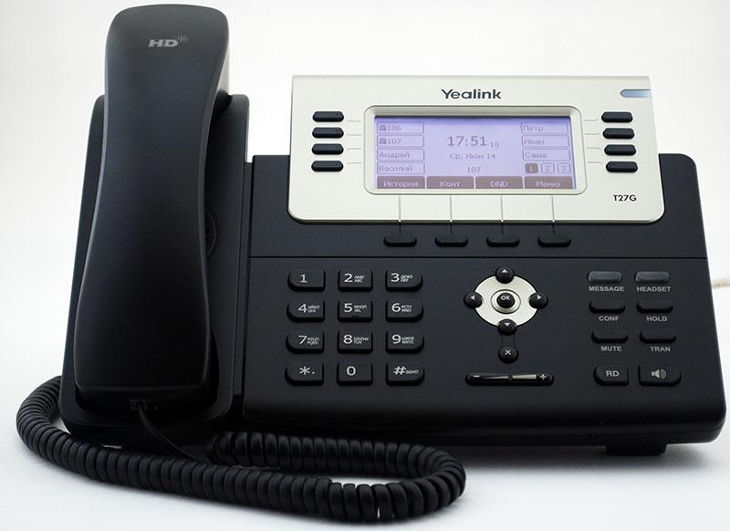 Обзор IP телефона Yealink SIP-T27G - 1