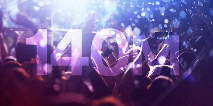 Пользовательская база Spotify превысила 140 млн человек