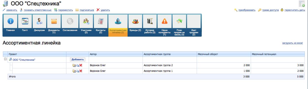 Вариант быстрой настройки системы управления оптовой компанией - 3