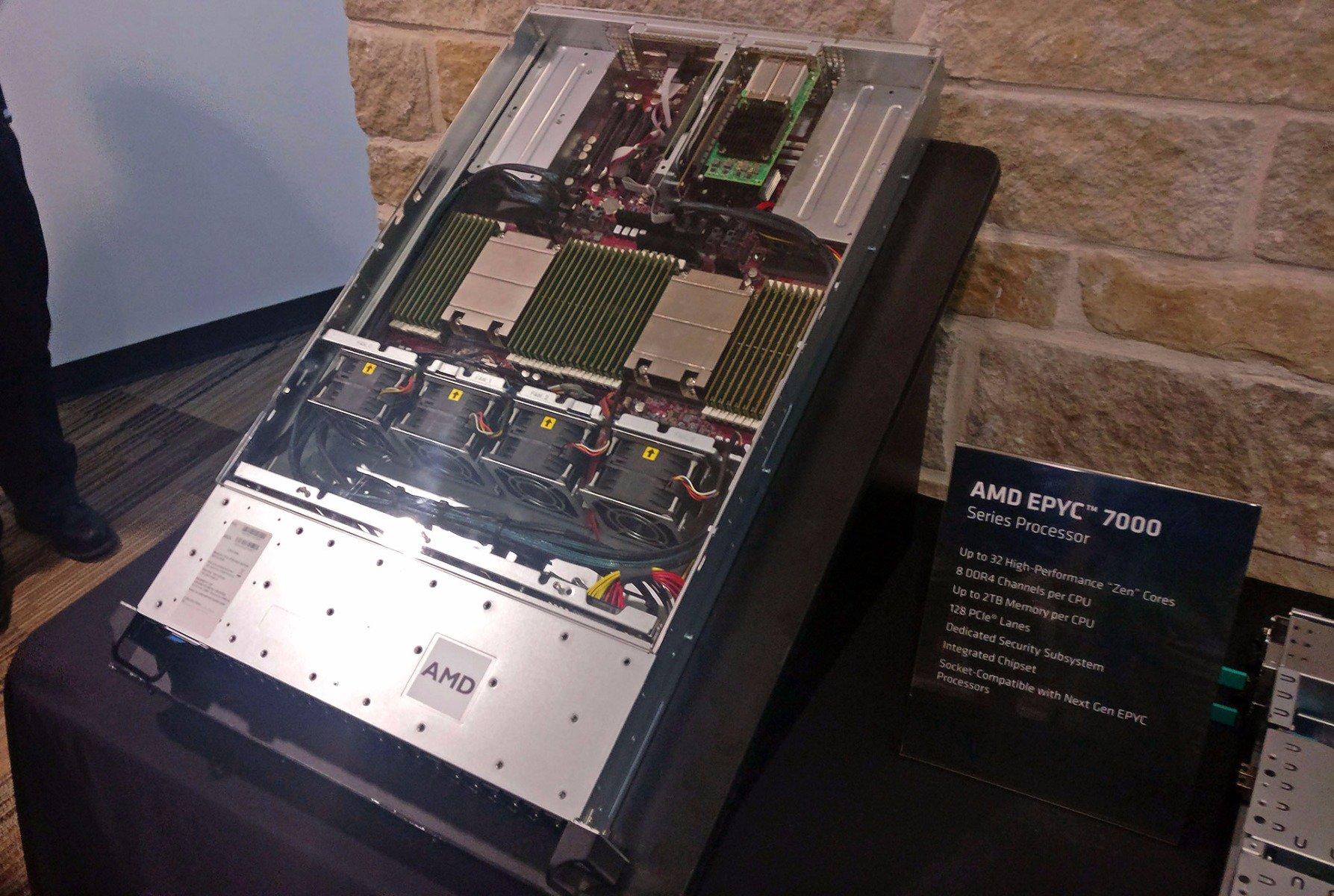 AMD представила серверные процессоры EPYC серии 7000 - 1