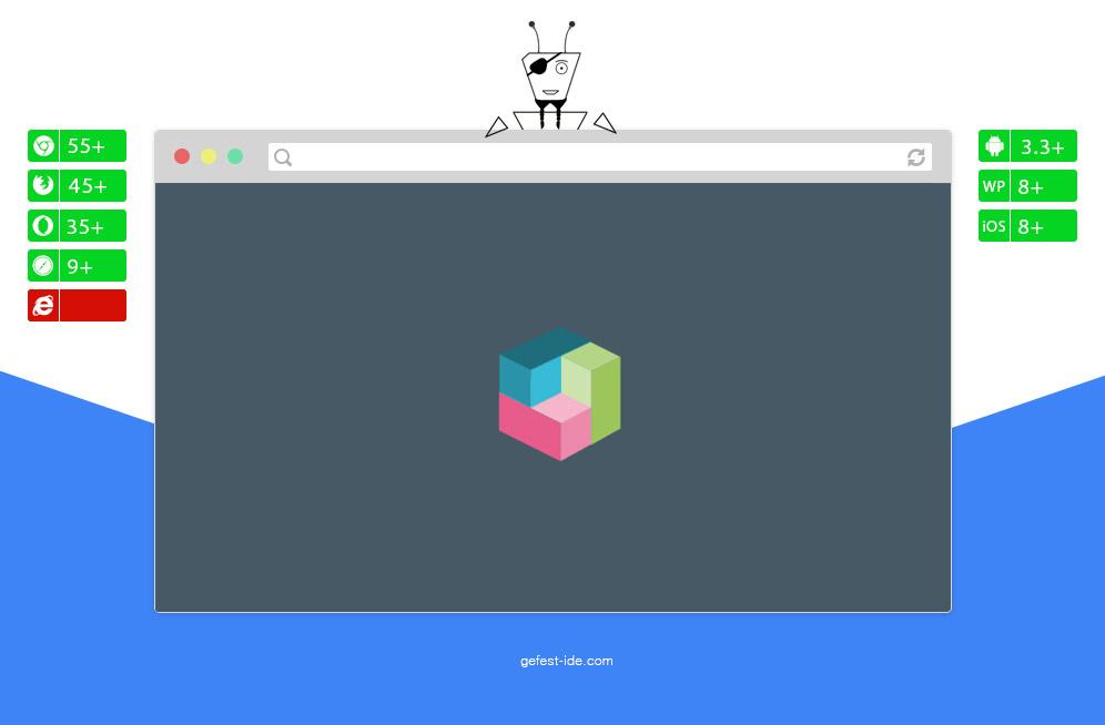 Квадратный preloader на css - BoxShuffle