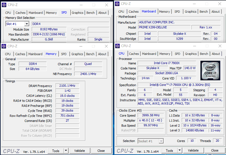 Новые наборы модулей памяти DDR4 предназначены для платформы Intel X299 HEDT