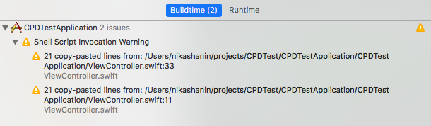 Интегрируем Copy-Paste-Detector для Swift в Xcode - 2
