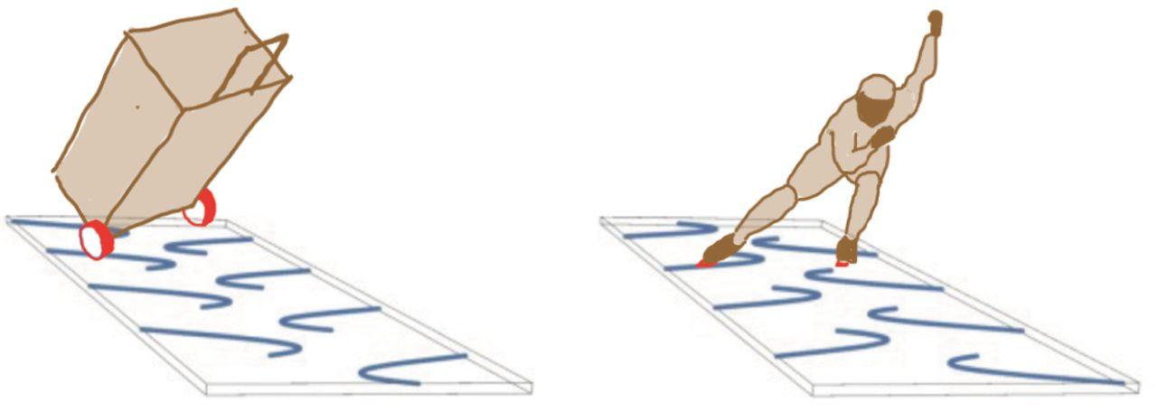 Физики объяснили, как успокоить чемодан на двух колёсиках, который раскачивается из стороны в сторону - 3