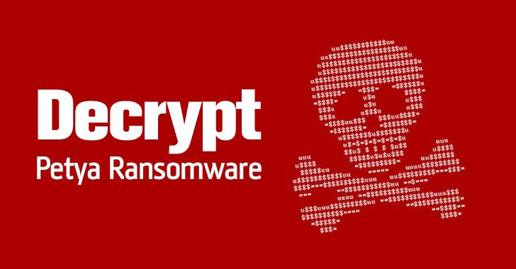 PETYA malware. Recovery is possible - 1