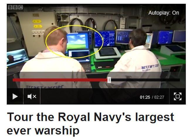 На борту нового британского авианосца работает Windows XP - 2