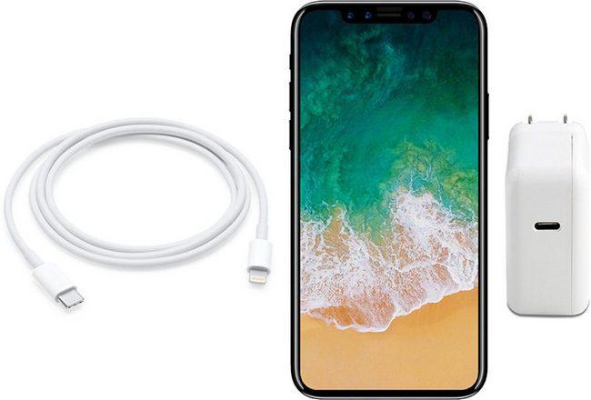 iPhone 8 должен получить 10-ваттное зарядное устройство с разъемом USB-C