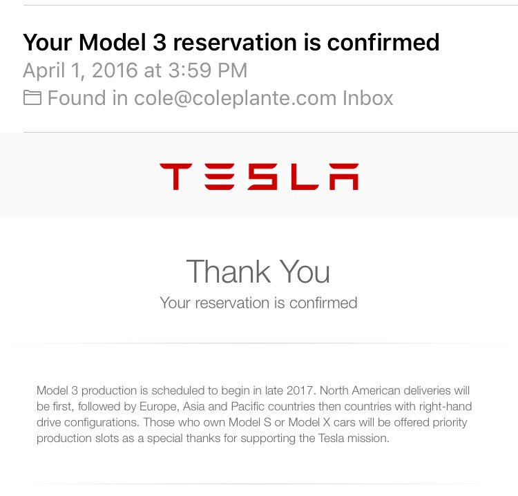 Началось серийное производство Tesla Model 3 - 3