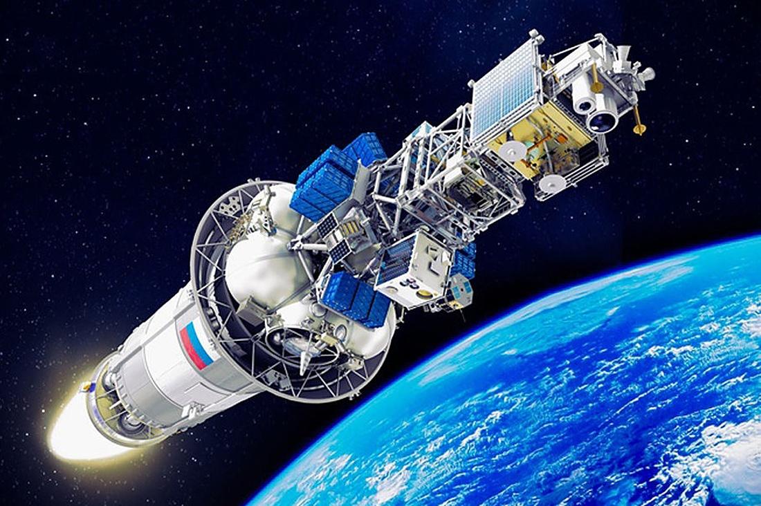 Спутник в космосе фото