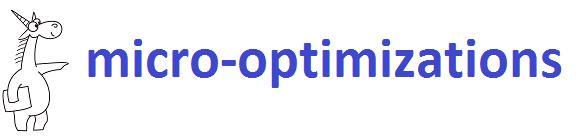 Микрооптимизации в коде