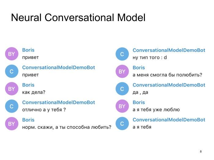 Neural conversational models: как научить нейронную сеть светской беседе. Лекция в Яндексе - 3