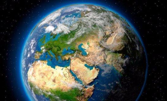 Земля оказалась пересеченной какой-то тенью