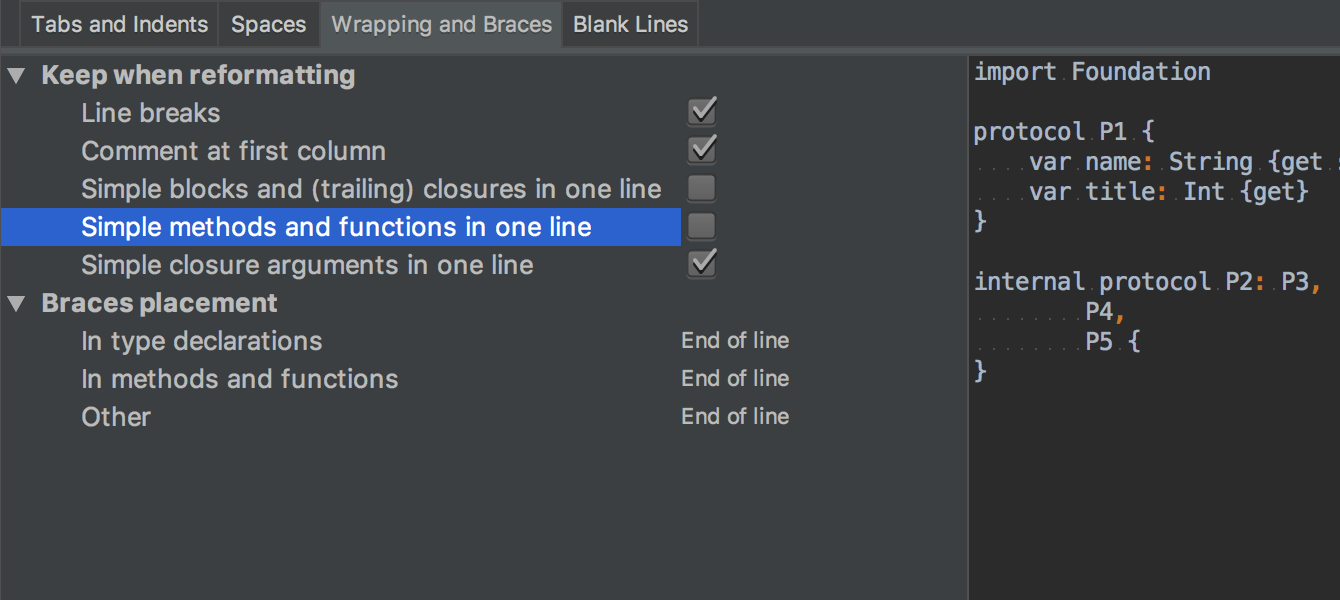 Simple methods and functions in one line