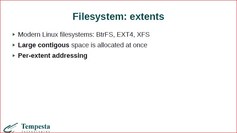 Linux Kernel Extension for Databases - 16