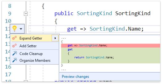 О поддержке языковых фич C# в Visual Studio и в CodeRush for Roslyn - 10