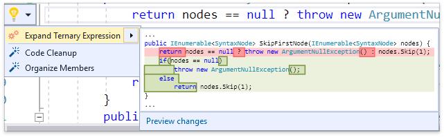 О поддержке языковых фич C# в Visual Studio и в CodeRush for Roslyn - 13