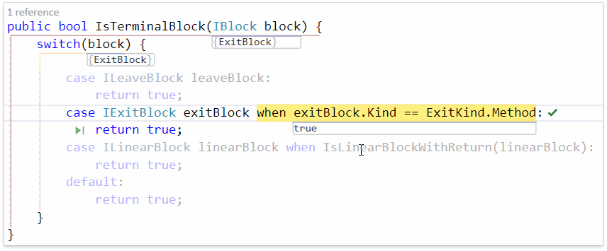 О поддержке языковых фич C# в Visual Studio и в CodeRush for Roslyn - 15