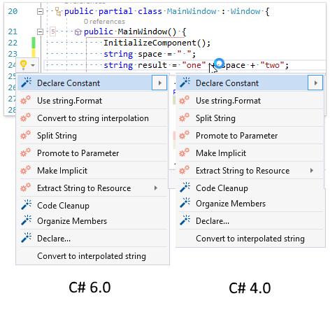 О поддержке языковых фич C# в Visual Studio и в CodeRush for Roslyn - 19
