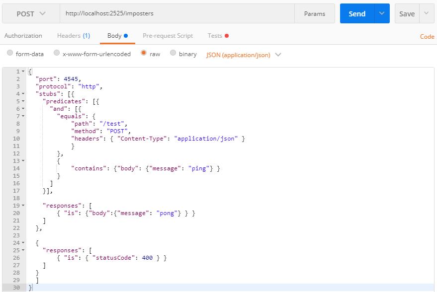 Mountebank: гибкое мокирование web API - 3