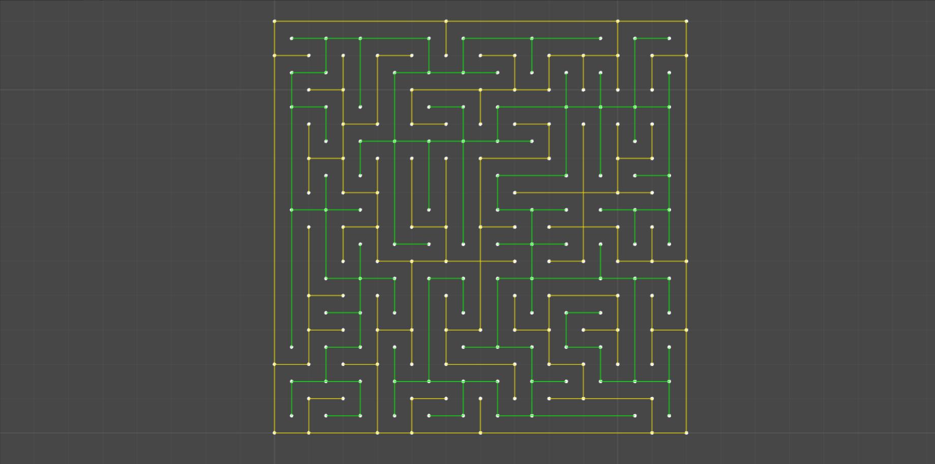 Генерация лабиринта алгоритмом Эллера в Unity - 3