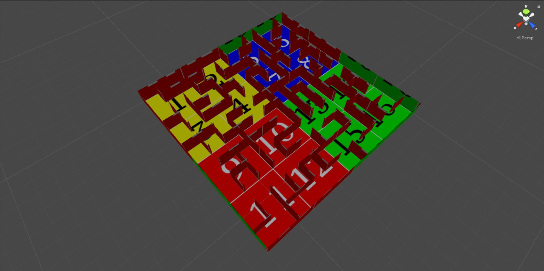 Генерация лабиринта алгоритмом Эллера в Unity - 4