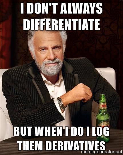 Логарифмируй это: метод логарифмической производной в машинном обучении - 1