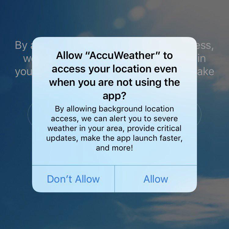 AccuWeather для iOS пересылает данные пользователей маркетологам - 2