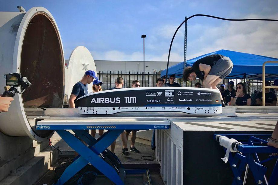 Команда из Германии показала в соревновании Hyperloop II результат свыше 300 км-ч - 1