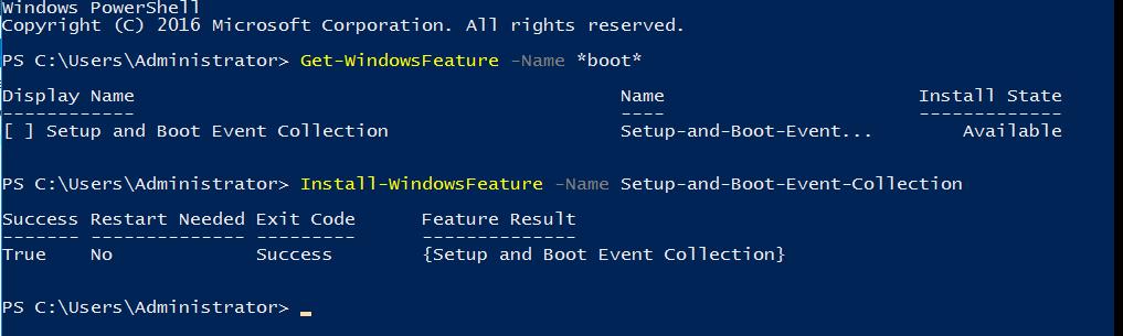 Сбор данных о загрузочных событиях Windows Server 2016 - 1