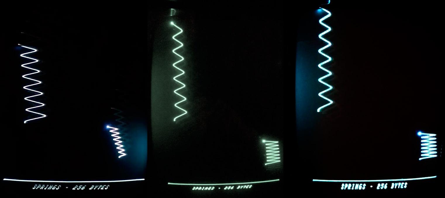 256 байт intro «Springs» для компьютера Vectrex - 1