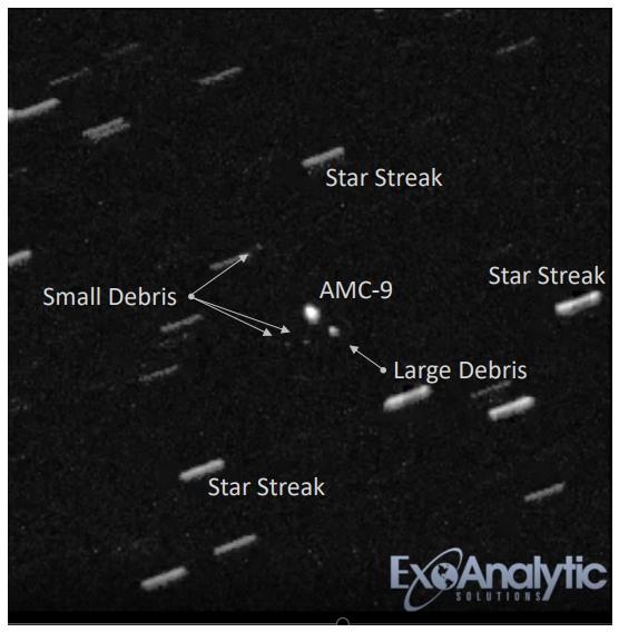 Новый мусор на геостационарной орбите: разрушение Telcom-1 и AMC-9 - 6