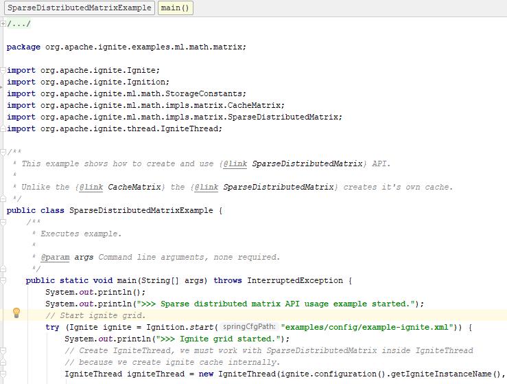 скриншот — исходный код примера