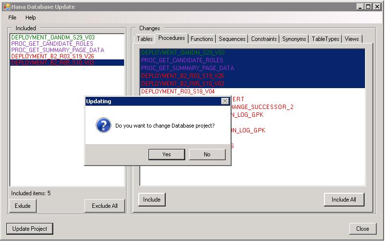 Plugin for HANA Database project in Visual Studio - 5