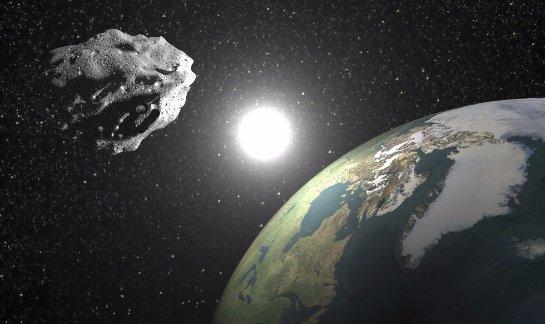 Возле Земли снова пролетел большой астероид