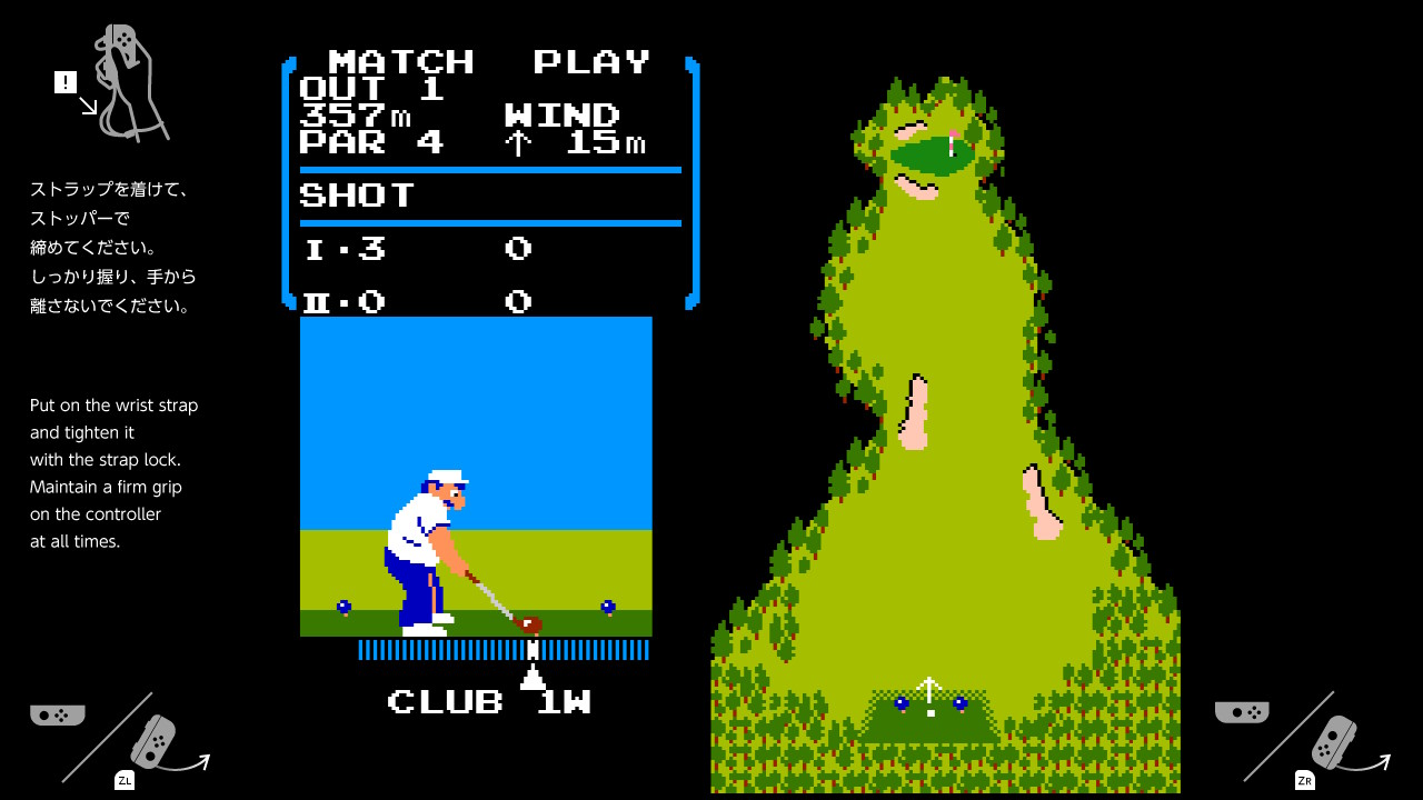 В Nintendo Switch обнаружилась пасхалка — NES-игра Golf - 2
