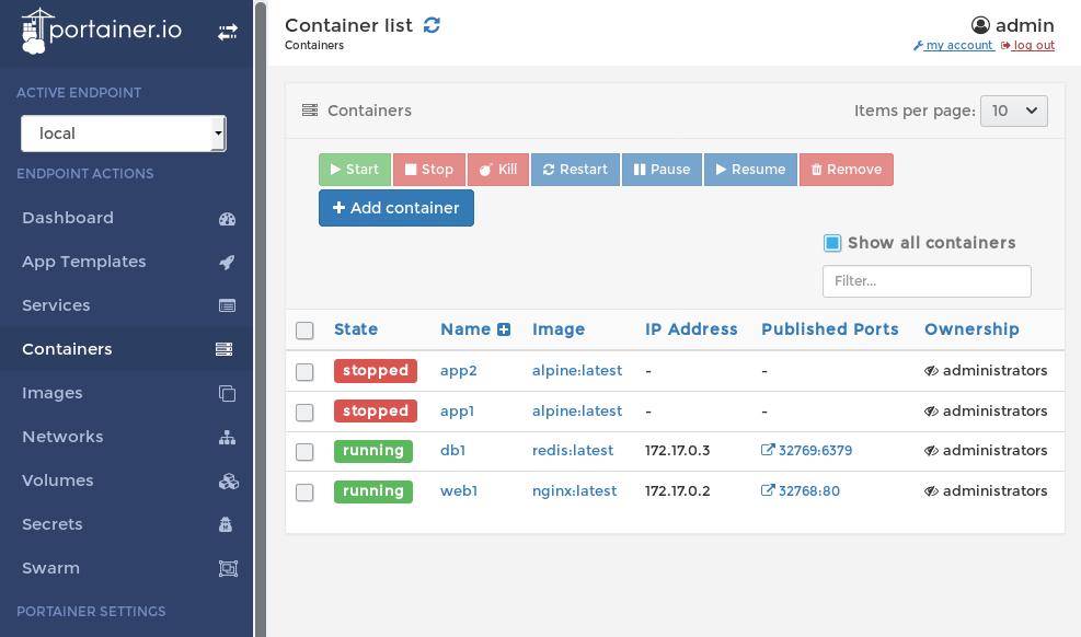 Обзор GUI-интерфейсов для управления Docker-контейнерами - 2
