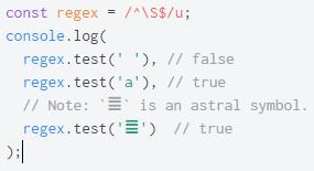 ECMAScript 6. Регулярные выражения с поддержкой Unicode - 11