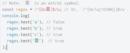 ECMAScript 6. Регулярные выражения с поддержкой Unicode - 7