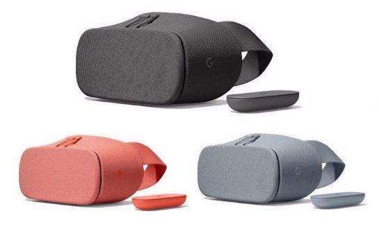 Новые гарнитуры Google Daydream VR  будут выпускаться в трех цветах