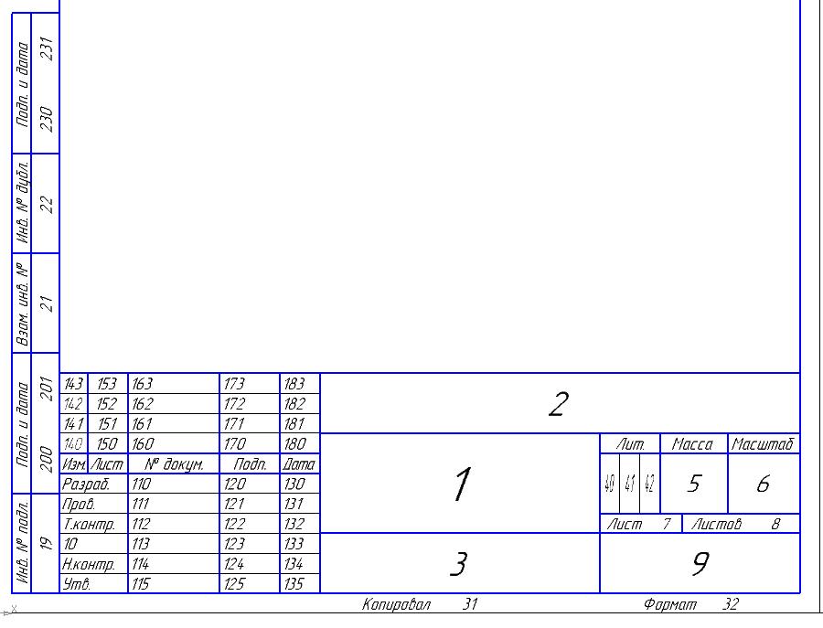 Работа с API КОМПАС-3D → Урок 4 → Основная надпись - 4