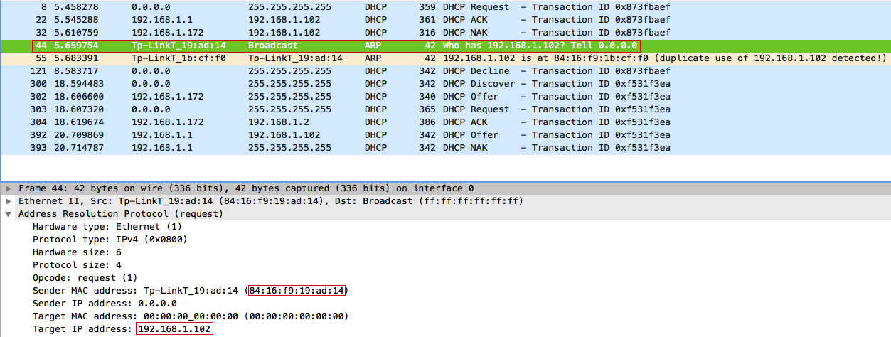 Try detect IP address conflict