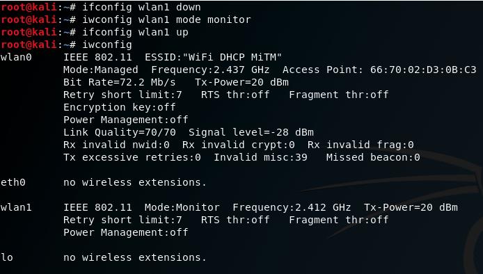 Wlan1 set monitor mode