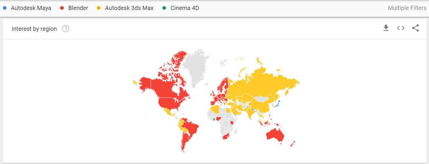 Blender — самый популярный запрос в Google - 3
