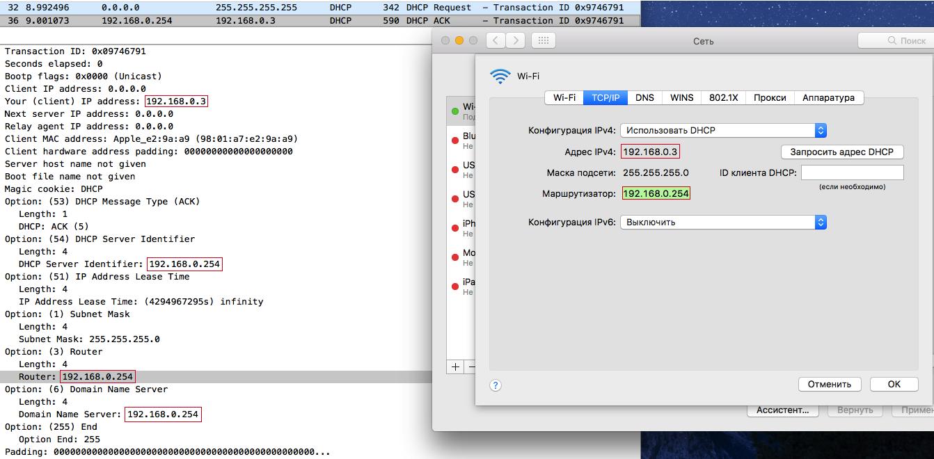 MacOS legal DHCPACK