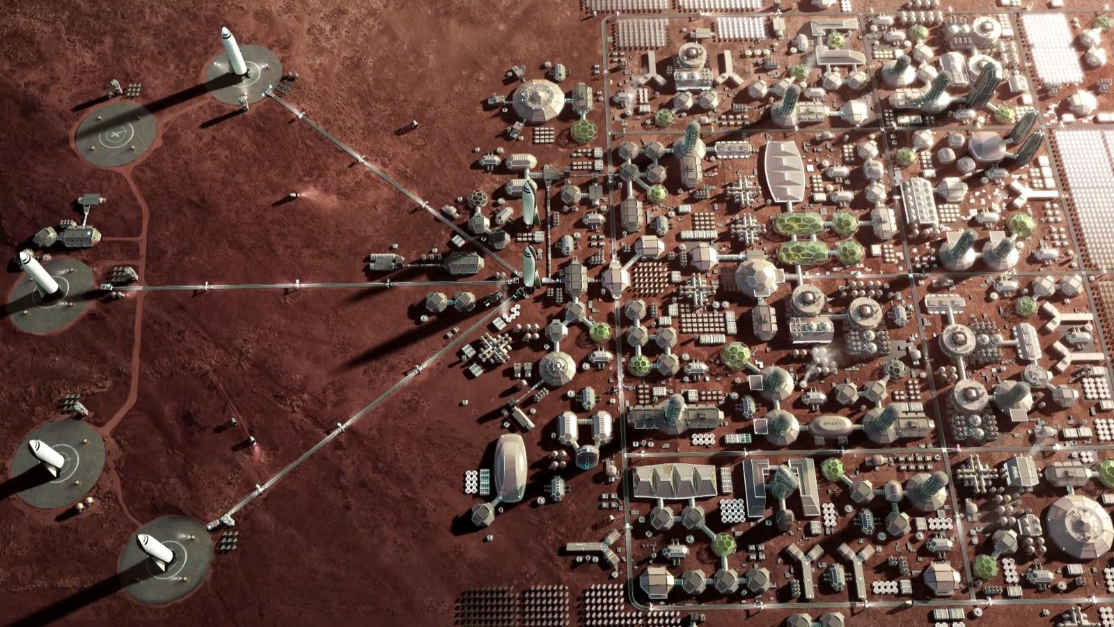 Илон Маск представил гигантскую ракету BFR и описал план марсианского города - 8