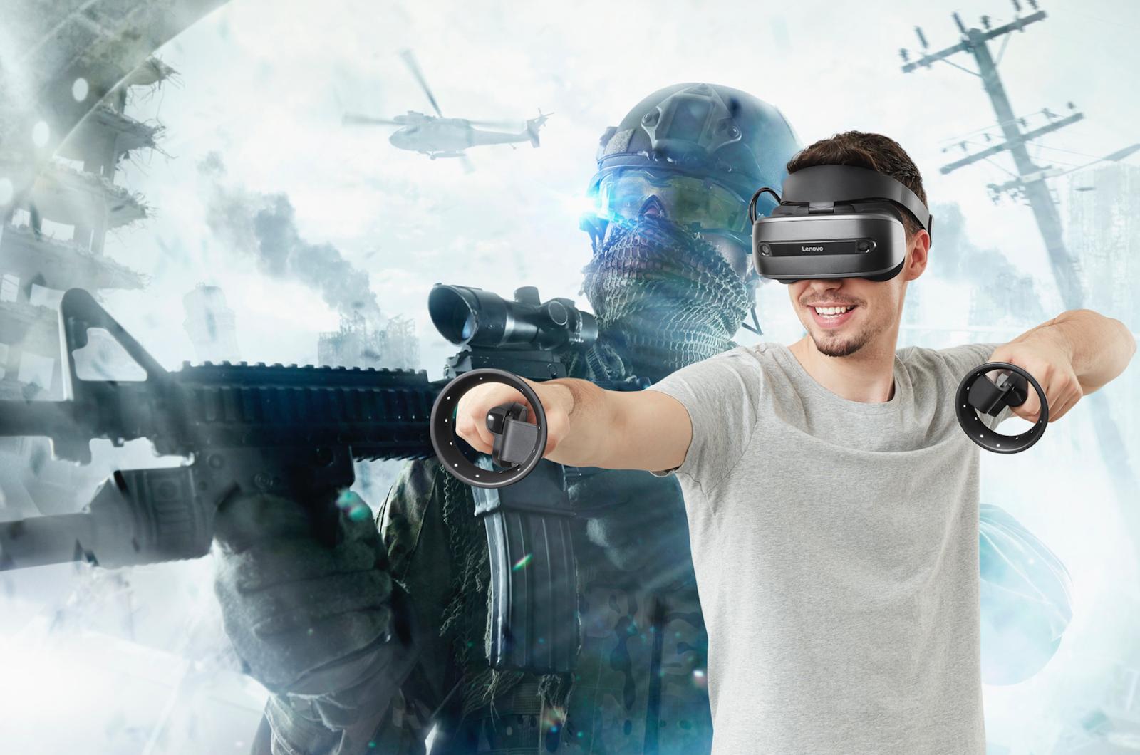 Виртуальная реальность со шлемом Lenovo Explorer - 3