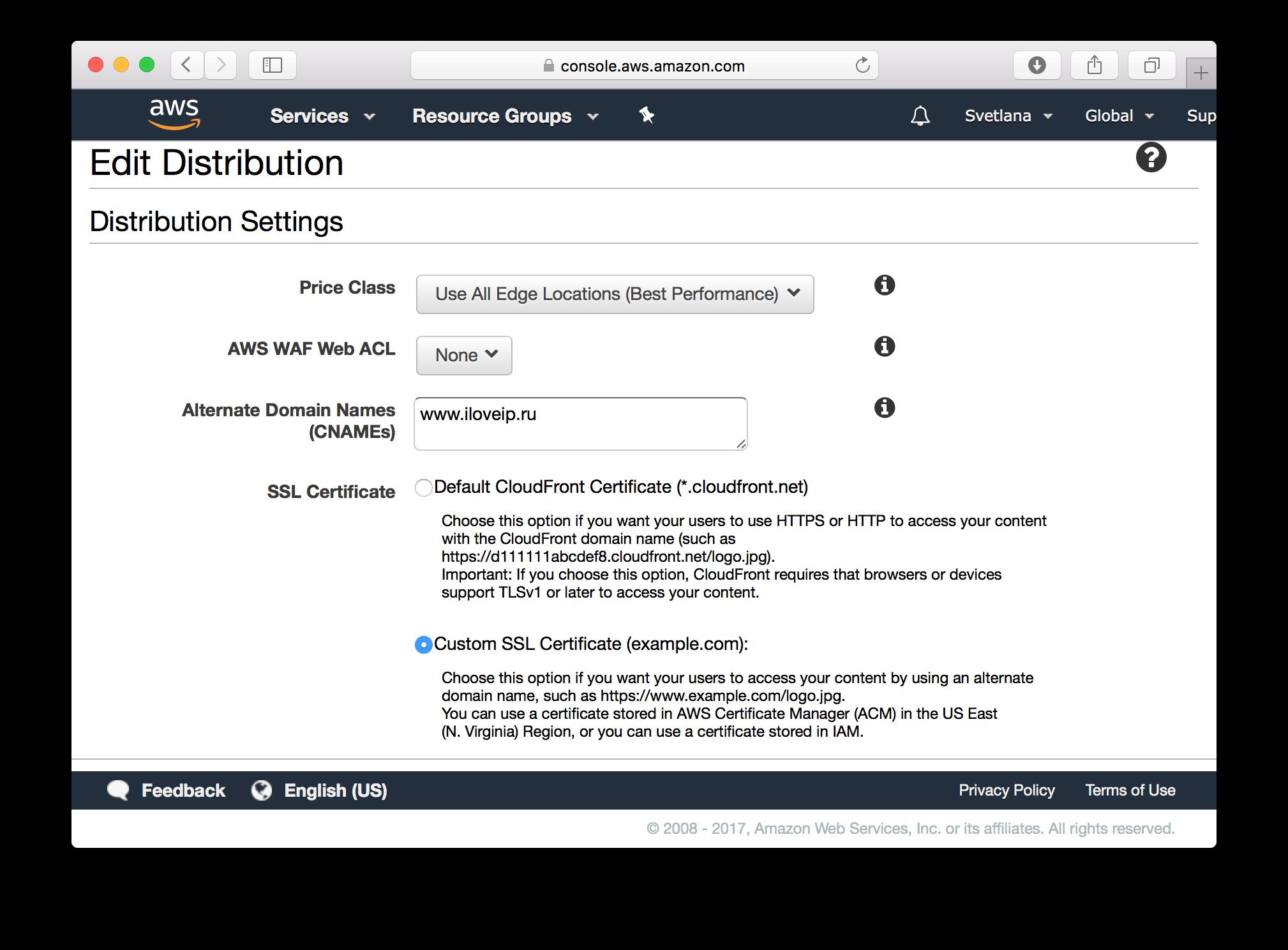 Как получить бесплатный SSL-сертификат от Amazon и переехать на HTTPS на Amazon S3 - 4