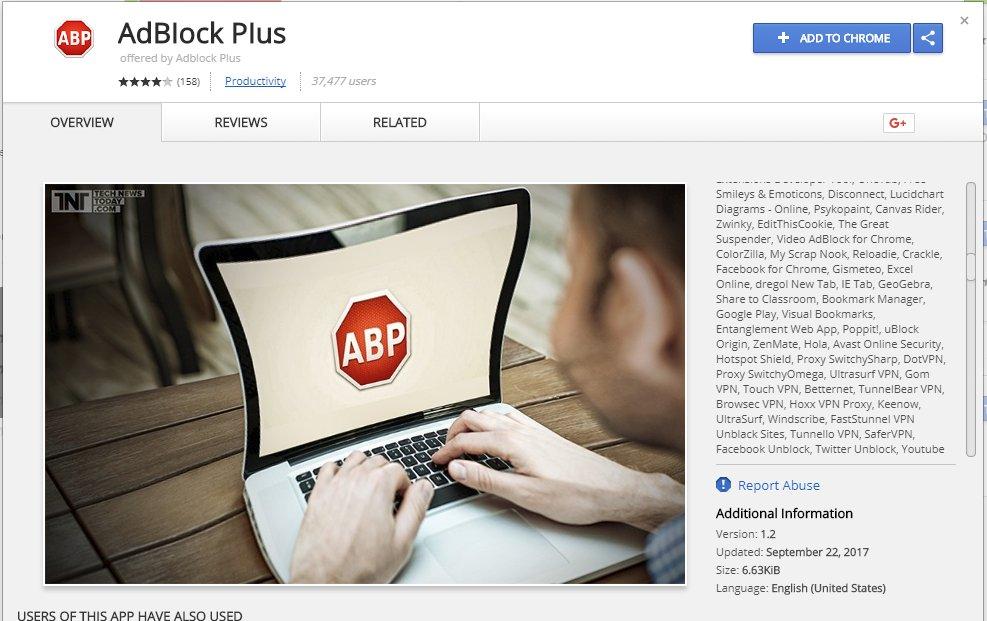 Более 37 000 пользователей Chrome установили фальшивое расширение AdBlock Plus - 1